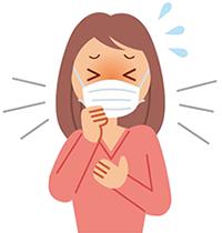 イラスト:風邪をひいている女性