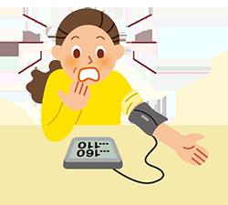 イラスト:高血圧測定