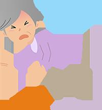 イラスト:転倒する女性