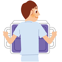 イラスト:検診胸部XP